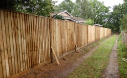 large-close-board-fence-installation