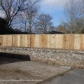 New fencing plus new gate supplied and fitted