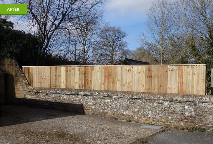 Horsham fencing installation after - March 2015