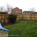 Replacement fencing to the rear garden