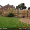 Close board fence with concrete posts and gravel boards Worthing