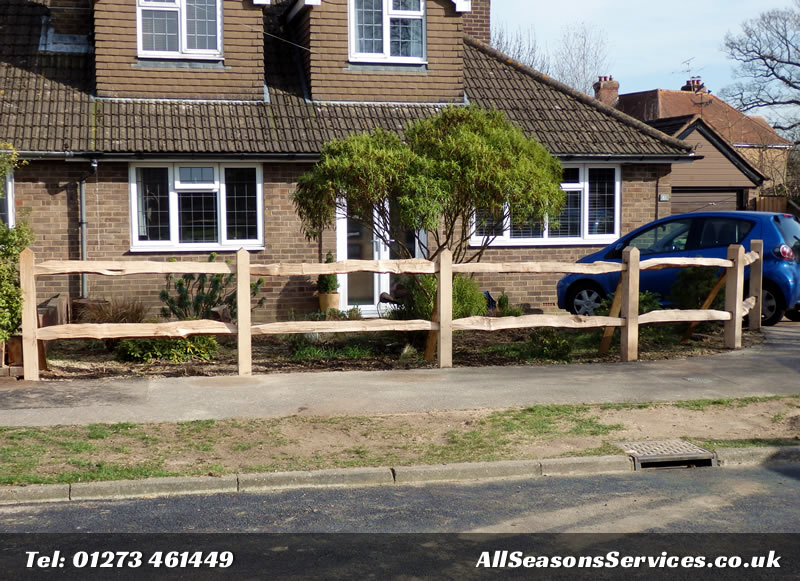 Partridge Green Oak fence job