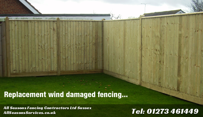 Blown over fence repair or replacement
