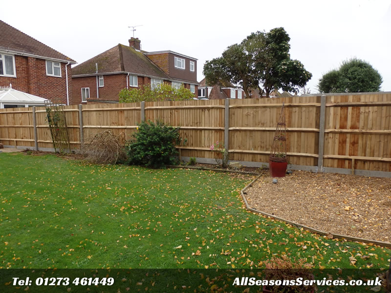 Cloase board fence with concrete posts Worthing